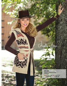 #Chaleco con capucha para invierno. Te gusta el #outfit de Angelique Boyer.