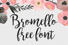 DLOLLEYS HELP: Bromello Free Font