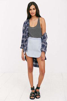 BDG Dolphin Hem Mini Skirt - Urban Outfitters