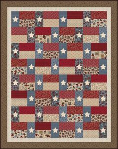 Hold 'em or Fold 'em - Stars and Stripes Free Quilt Pattern