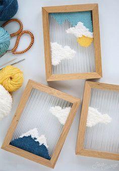 Khung tranh đan kiểu này trông vừa cổ cổ, vừa hiện đại, ai hay thích nghịch các kiểu len thì xem ngay nhé!