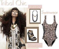 """""""Tribal Chic Swimwear"""" by latoyacl ❤ liked on Polyvore"""
