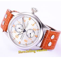97.11$  Watch here - http://alik3t.worldwells.pw/go.php?t=32713795576 - 47mm Parnis Dial Orange Number Power Reserve Automatic men Watch