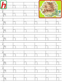 EDUCATIA CONTEAZA: LITERE PUNCTATE DE TIPAR Letter Tracing Worksheets, Handwriting Worksheets, Tracing Letters, Alphabet Worksheets, Kindergarten Worksheets, Alphabet Writing, Learning Letters, Writing Exercises, Bilingual Education