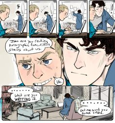30 Day OTP Challenge: Day 14 (Genderswap) Day 13... I don't ship Johnlock THAT far but I like the art so... It stays