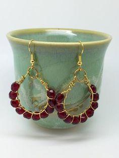 Red earrings outfit, red earrings