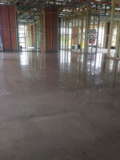 Our team showing just how much they love working with new builds! This high gloss diamond polish was a great success. Residential Polished Concrete Floors, New Builds, High Gloss, Melbourne, Hardwood Floors, Success, Interior Design, Diamond, Building