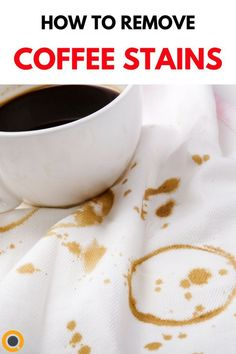 The next time you have a minor accident involving your coffee dont panic. Armed with just a few basic household supplies, you can get rid of the stain and get right back to enjoying a fresh cup of joe in little to no time at all. Little's Coffee, Fresh Coffee, Coffee Beans, Coffee Drinks, Coffee Maker, Coffee Life, Coffee Shops, Coffee Stain Removal, Stain On Clothes