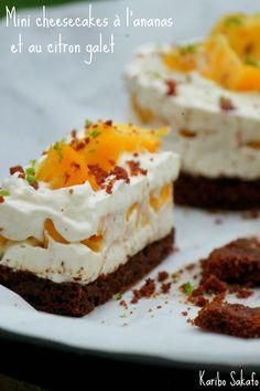 Mini cheesecakes à l'ananas et au citron galet