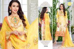 Midsummer Cotton Printed Anarkali Shalwar Suits by Karishma Kapoor 2015