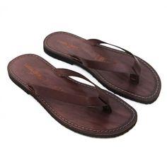 Sandalo maldive marrone da uomo Sandali Di Cuoio 279b75f3945