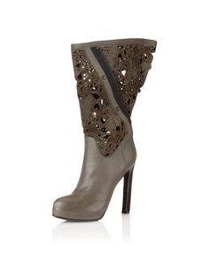 Haider Ackerman Women's Filigree Boots, Anthracite, http://www.myhabit.com/ref=cm_sw_r_pi_mh_i?hash=page%3Dd%26dept%3Ddesigner%26sale%3DA2XNNTNPVT0FJJ%26asin%3DB005WJVQJI%26cAsin%3DB005WKA31O