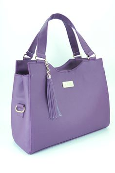 BolsasParaDama Tote Handbags, Purses And Handbags, Thigh Bag, Fab Bag, Versace, Stylish Handbags, Boho Bags, Purple Bags, Beautiful Handbags
