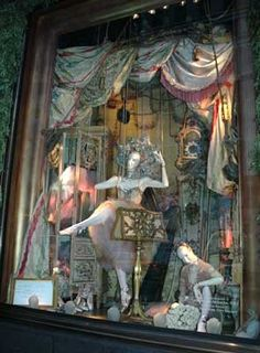 Bergdorf Goodman christmas holiday window decorations department store fantasy