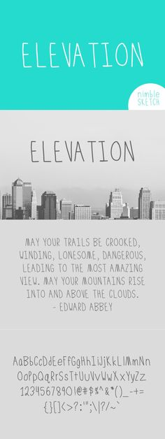 Elevation Font. Fonts. $7.00