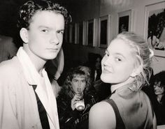 Young Drew Barrymore and Balthazar Getty at a private party