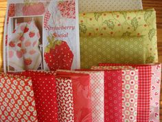 Strawberry Social Quilt Kit with Fabric from by timelessquilts, $76.00