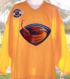 c1be2fe3ae6 Details about CCM NHL Atlanta Thrashers Jersey, Size XL, Never Worn, Bud  Light Logo, Rare