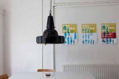 Marinus Licht - Geëmailleerde industriële hanglamp