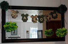 Check out this great photo of camo baby shower decorations and other many baby shower ideas at Just Baked & Camouflage baby shower | Oais baby shower | Pinterest | Camouflage ...