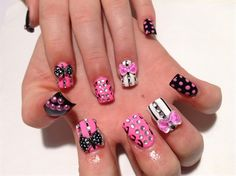 Day 53: 3-D Embellished Mix Nail Art - - NAILS Magazine