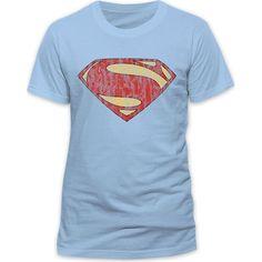 S-XXL Livraison rapide Superman Man Of Steel Logo Argenté Adulte Unisexe T-Shirt