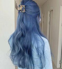 Cute Hair Colors, Hair Dye Colors, Blue Grey Hair, Korean Hair Color, Ulzzang Hair, Dye My Hair, Aesthetic Hair, Hair Looks, Hair Inspiration