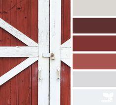 9 Beautiful Bathroom Color Schemes For Spring 2016: Barn Raisin'