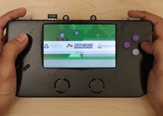 "Super Game Pi Handheld Raspberry Pi Powered 3D Printed SNES - The new Super Game Pi as it has been called, is a 3D printed games consoles that is equipped with 12 buttons and an analog joystick together with a larger 5"" HDMI display, all powered by a Raspberry Pi A+ mini PC loaded with RetroPie software. 