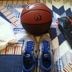 Official court monitor shoes and official 2012 Hoopfest game ball. #spokanehoopfest #swag