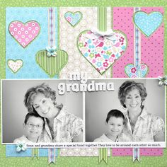 Ideas for Scrapbookers: Special Grandma Page and Sketch