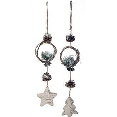Found it at Wayfair - Holiday 2 Piece Star and Tree Xmas Ornament Set