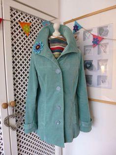 White Stuff 'Oh Natural' velvet jacket with handmade brooch