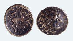 Keltische Goldmünze, Viertelstater Fundort: Basel-Gasfabrik Spätlatènezeit, ca. 150–80 v. Chr. #silver #silber #muenze #coin #treasure #schatz #geschicht #history #antik #antique #gold #basel #switzerland #schweiz #medal #medaille