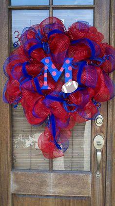 Ole Miss Deluxe Deco Mesh Wreath University