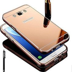 Samsung Galaxy J7 2015 Phone Cell Phone Accessories Mirror Case Rose Gold Stylus