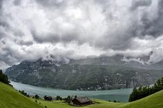 Clouds above Lake Walensee, photographed in Murg, Switzerland.    Alessandro Della Bella/AP