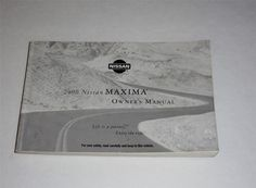 2007 nissan maxima owners manual book owners manuals pinterest fandeluxe