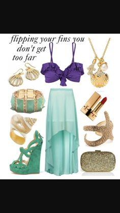 Mermaid calm costume