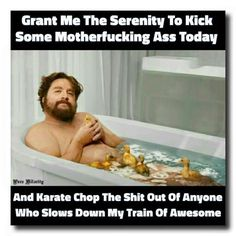 Grant me the serenity....