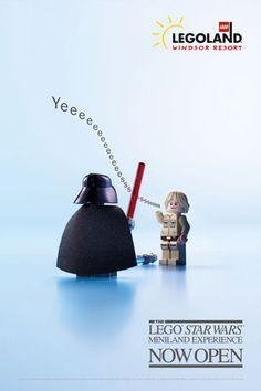 To Promote LEGO 'Star Wars' Miniland, Ads Use The Movie's Iconic Scenes - DesignTAXI.com