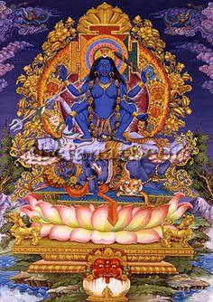 Mahakali Enthroned