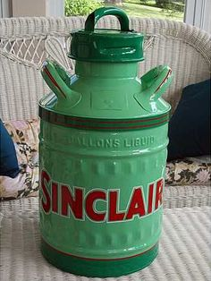 What a great find! A 5 Gallon Sinclair Oil Can from Dana Mecum's Original Spring Classic Auction.
