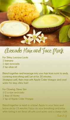 "Avocado isn't just a super food, it's great for your hair and face!! Check out these beauty tips! ""Re-pin"" and ""like"""