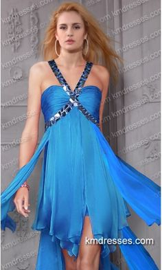 glamorous beaded sweetheart one shoulder chiffon High Low gown.prom dresses,formal dresses,ball gown,homecoming dresses,party dress,evening dresses,sequin dresses,cocktail dresses,graduation dresses,formal gowns,prom gown,evening gown.