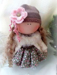 Купить Кукла текстильная - коричневый, кукла текстильная, кукла ручной работы, кукла в подарок