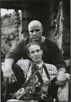 """Mary Ellen Mark self-portrait with Marlon Brando during the filming of """"Apocalypse Now"""", 1979"""