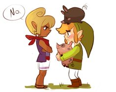 she wont let link bring the pigs...