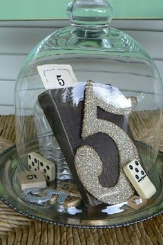 Really love the misc. items and ways to display the number.  Create this look for table numbering at a wedding.  Use as décor in your home or birthday party decor... by Cottage Affairs: A Collection Started