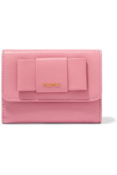 bf05a53d6d56 Miu Miu - Bow-embellished textured-leather wallet